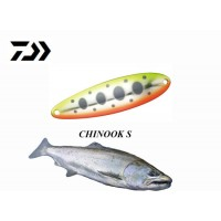 Daiwa - Chinook 10gm Orange Yamame  Trout and Salmon Fishing Spoon Lure