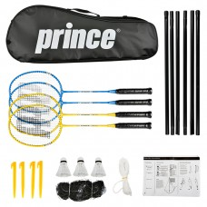 Prince - 4 Racket and Net Badminton Set